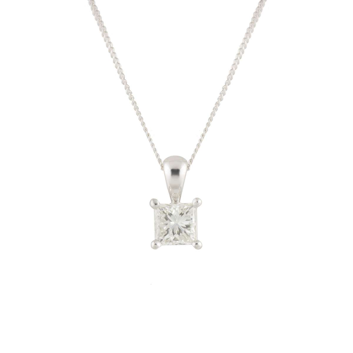 White Gold Diamond Pendant 0.80ct H/VS